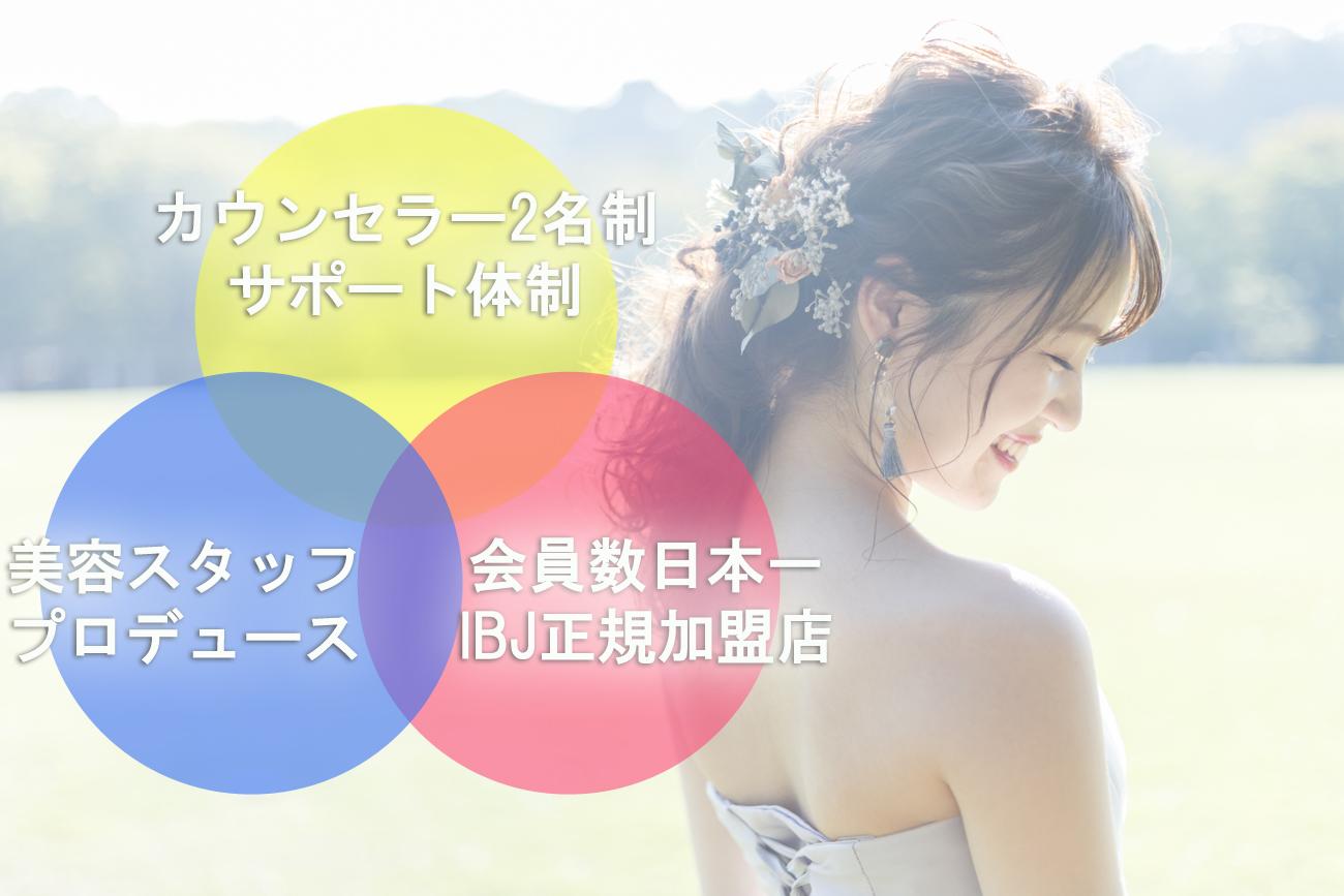 愛知、岐阜、三重、名古屋女性専門結婚相談所ブライダルサロンZERO強み